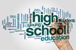High school word cloud