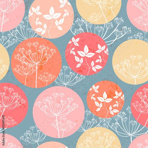 Fototapeta Botanical pattern with foliage