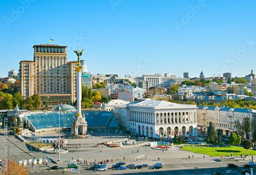 Fotobehang Kiev Independence Square. Kiev, Ukraine
