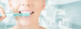 Bocca spazzolino denti pulizia