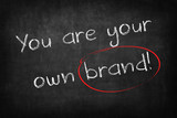 you are your own brand words on Blackboard
