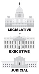 Three Branches of US Government Vector Illustration © jpldesigns
