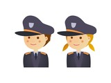 Man and woman police cop