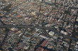 Aerial view of mexico city with road.