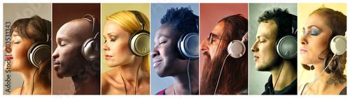 Fotobehang Muziek The sound of music