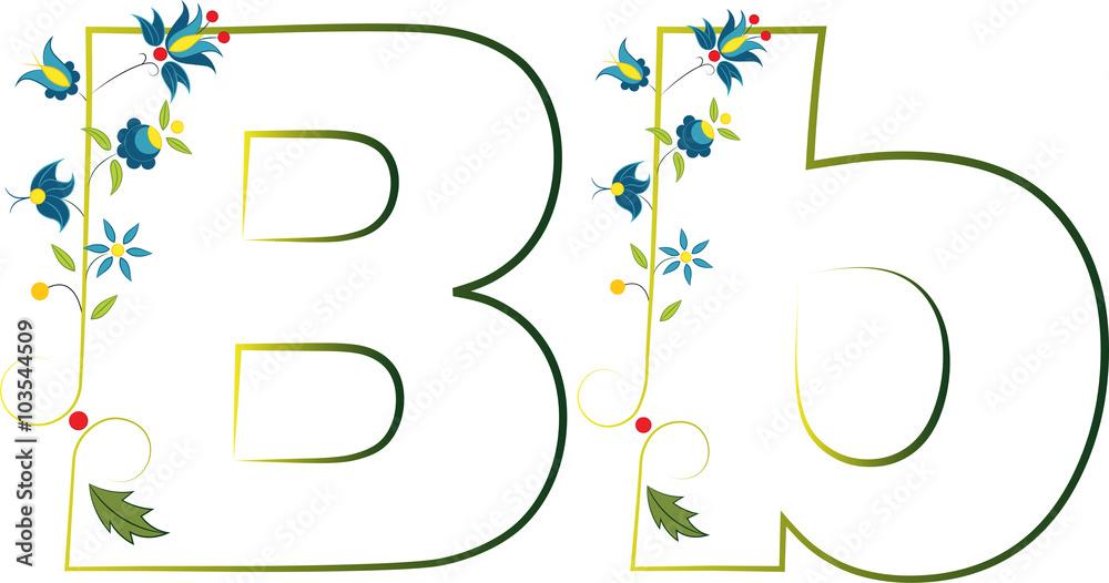 Litera B Haft Kaszubski 103544509 Fototapety Na ścianę