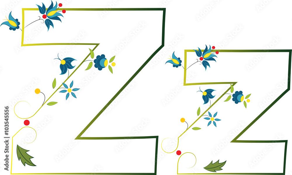 Litera Z Haft Kaszubski 103545556 Wzory Ludowe Fototapety Na