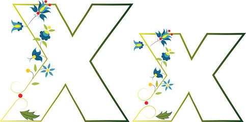 Litera x - haft kaszubski