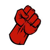 Fototapety Raised fist vector icon