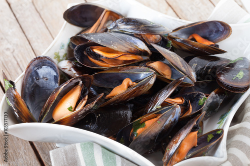 Steamed Mussels Poster