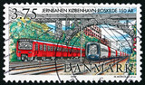 Postage stamp Denmark 1997 Trains under Carlsberg Bridge