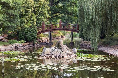 Fototapeta Japanese garden in Wroclaw