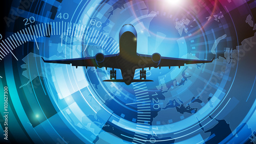 mata magnetyczna samolot tło wektor