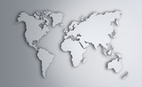 World Map. Image with clipping path