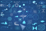 Fototapety Eelements symbols and schemes of physics