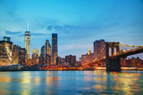 New York City cityscape in the evening - 103676953