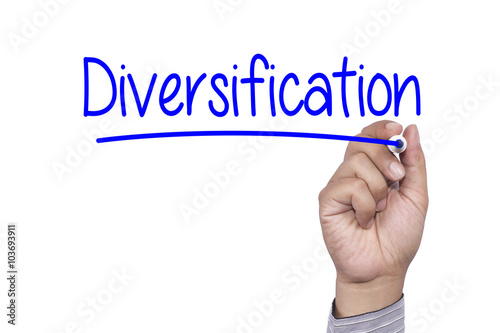Business concept handwriting marker and write Diversification Photo by alix18