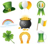 St Patrick Day Icons Collection