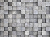 wall of concrete cubes - 103708329