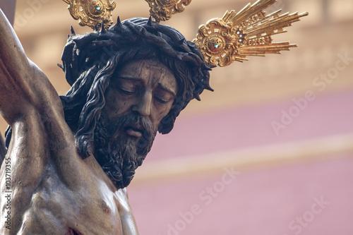 """rostro Del Cristo De La Hermandad Del Buen Fin, Semana"