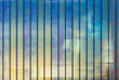 Colorful office wall made of glass, background
