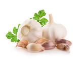 Garlic isolated on white background - 103724754