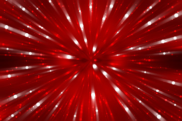 Abstract red fractal composition. Magic explosion stars