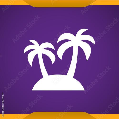 Foto op Canvas Violet Palm icon