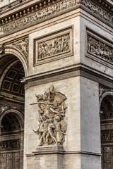 Arc de Triomphe de l'Etoile on Charles de Gaulle Place, Paris.