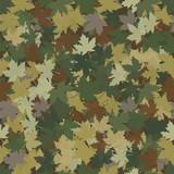 Fototapety  Fallen maple leaves hunters camouflage.