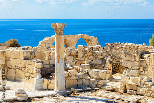 Fotobehang Cyprus Limassol District. Cyprus. Ruins of ancient Kourion