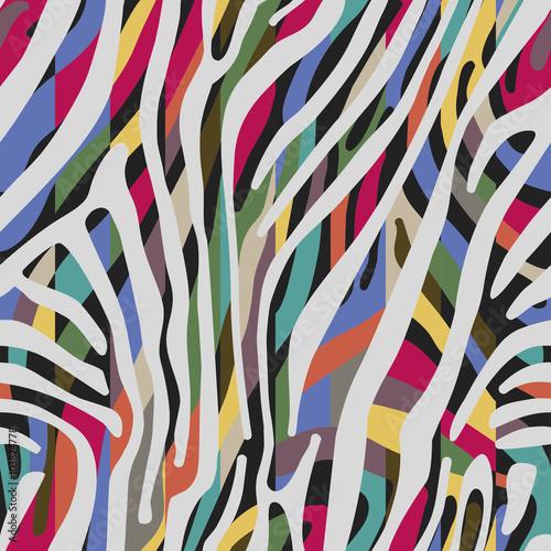 Materiał do szycia Tło z kolorowy wzór skóry Zebra