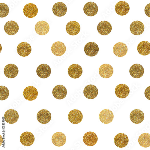Cotton fabric glitters dots pattern