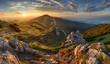 Slovakia mountain from peak Chleb