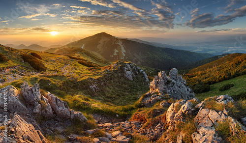 Slovakia mountain from peak Chleb