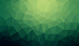 Fototapety Green gradient abstract polygon background