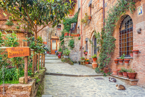 Fototapety, obrazy : Old town Tuscany Italy