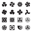 Fan icons. Vector illustration