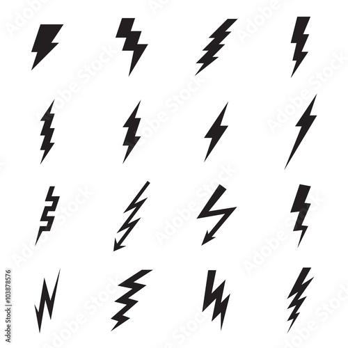 Lightning bolt icon. Vector illustration