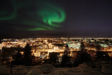 Aurora over Reykjavik