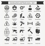 Fototapety Construction and Tools Icons - Set 1