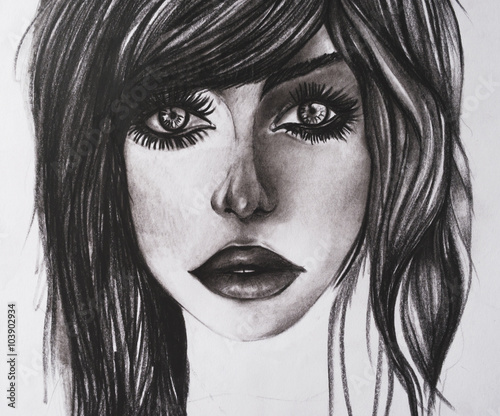 Emo girl illustration - 103902934