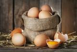 Fototapety Raw organik farm eggs