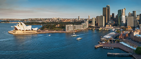 Sydney city skyline and harbour