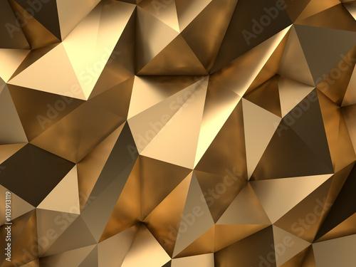Obraz na płótnie Złoto Streszczenie 3D Render Kontekst