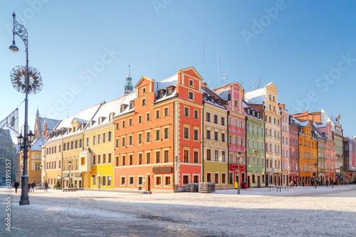 Zdjęcia na płótnie, fototapety na wymiar, obrazy na ścianę : Wroclaw. Market Square.