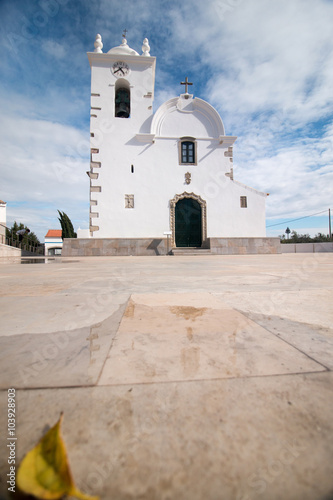 Foto op Canvas Bedehuis Small church tower from Portugal