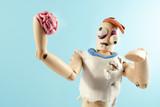 Zombie wooden dummy.