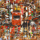 Fototapety seamless pattern with colorful urban city,abstract painting