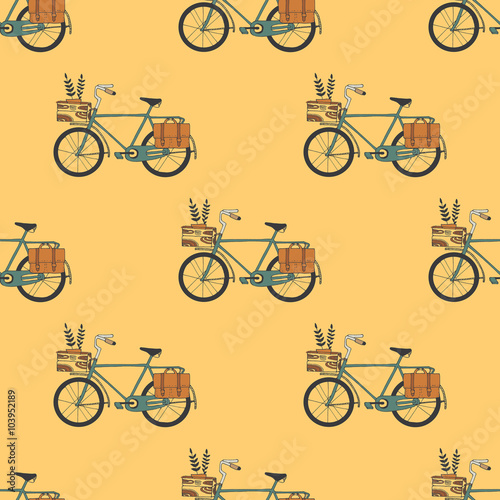 Materiał do szycia Illustration of Bicycle, Riding on the bicycle, vector illustrat